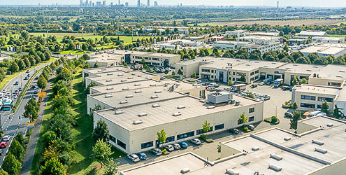 Business- und Smart-Logistics-Park Luftaufnahme
